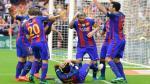 Liga española: Barcelona ganó 3 a 2 frente a Valencia - Noticias de rodrigo perez