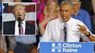 """Barack Obama calificó de """"peligrosa"""" posición de Donald Trump de no reconocer derrota. (AFP)"""