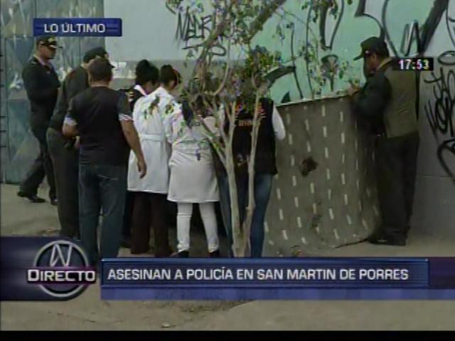 Delincuentes asesinaron de cuatro balazos a policía en San Martín de Porres. (Canal N)