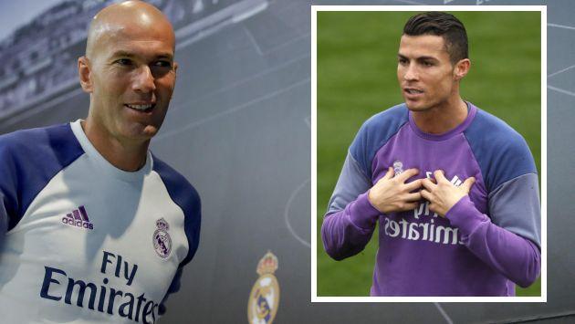 Zinedine Zidane defendió a Cristiano Ronaldo. (EFE)