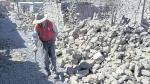 Destrucción. Fuerte temblor de 5.2 grados dejó sin hogar a decenas de residentes del valle del Colca. (Gessler Ojeda)