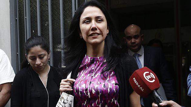 más acusaciones. La ex primera dama, Nadine Heredia, negó ser propietaria de Todo Graph. (Renzo Salazar)