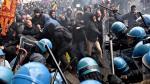 Manifestantes en Italia se enfrentan a la Policía rechazando reformas del gobierno [Fotos y video] - Noticias de matteo renzi