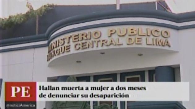 Madre de 5 niños que desapareció hace 2 meses fue hallada en la morgue de Lima. (Captura de TV)