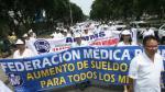 Federación Médica del Perú acatará paro nacional de 72 horas este martes - Noticias de maría de jesús vásquez vásquez