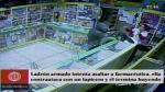 Con lapicero en mano, una farmacéutica se defendió de asaltante [Video] - Noticias de caja trujillo