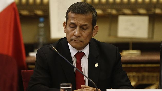 caución de S/50 mil a Ollanta Humala. (Renzo Salazar)