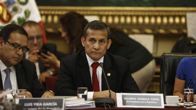 Plazo. El ex presidente Humala tiene 30 días para pagar los S/50 mil en el Banco de la Nación. (Renzo Salazar)