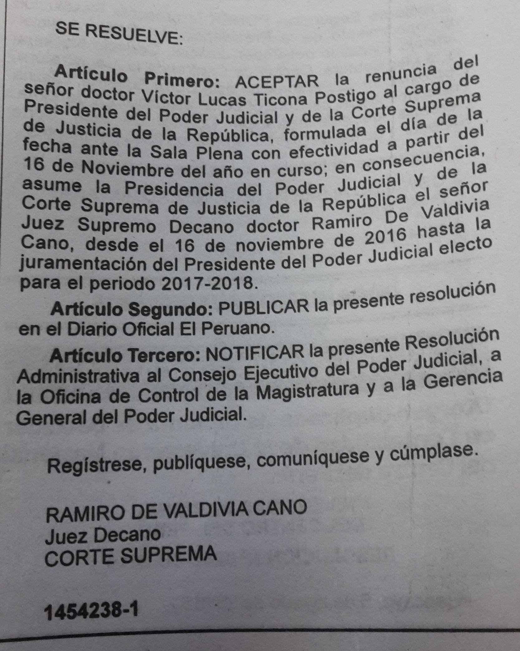 Eligen a Víctor Ticona presidente del Jurado Nacional de Elecciones