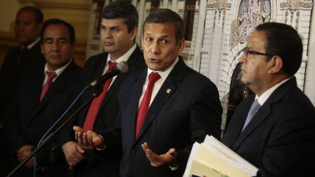 ¿Maniobras? El ex presidente Humala es investigado por el presunto delito de lavado de activos. (Atoq Ramón)