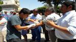 Catedráticos de Universidad Nacional de Piura realizaron radical protesta en Plaza de Armas - Noticias de jorge merino