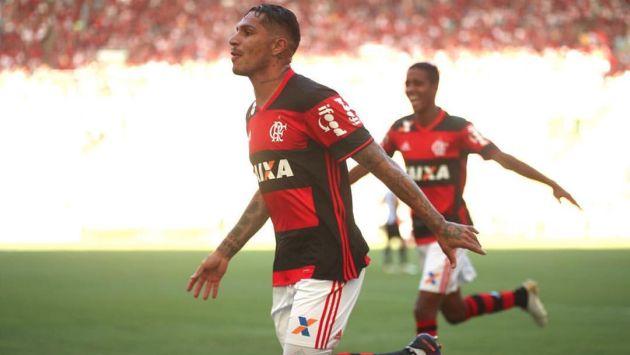 Paolo Guerrero marcó en el triunfo del Flamengo. (Flamengo)
