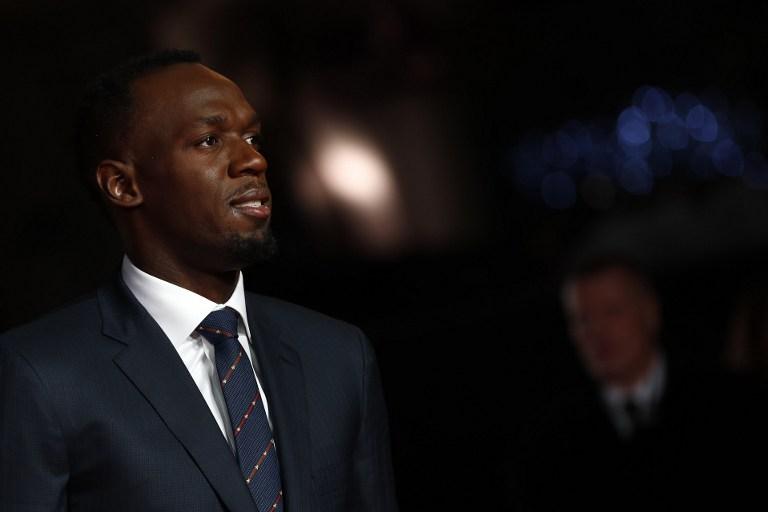 Usain Bolt durante la presentación del documental sobre su vida y carrera. (AFP)