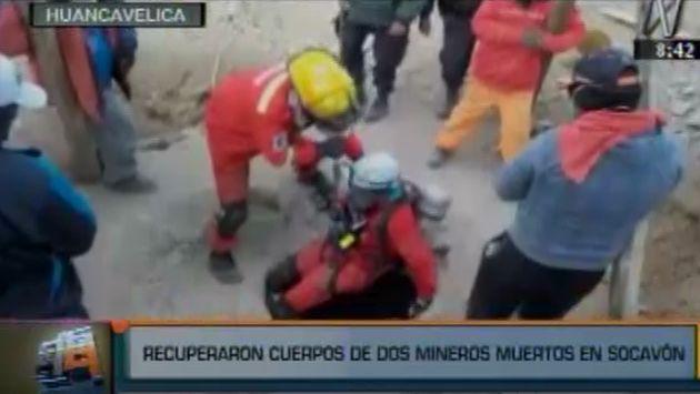 Recuperaron 2 de los 6 cuerpos de mineros atrapados en mina en Huancavelica. (Canal N)