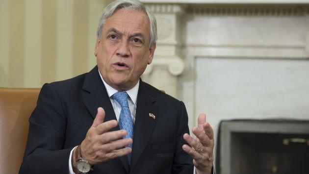 """Sebastián Piñera: """"Muchas de las bandas de delincuentes en Chile son de extranjeros"""". (AFP)"""