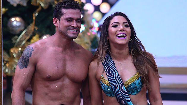 Christian Domínguez se deshizo en halagos para su bailarina Isabel Acevedo. (USI)
