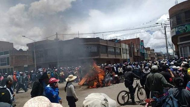 Tras violentas manifestaciones en Puno, declaran estado de emergencia. (Samuel Vilca)