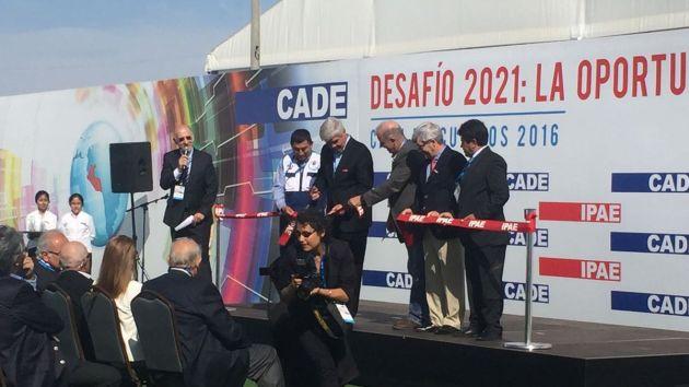 Se inauguró el foro empresarial con el tradicional corte de cinta. (@PrimerPlanoJC)