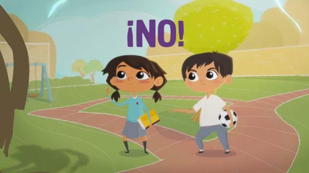 Campaña de inicios del 2000 volvió para prevenir violencia contra menores. (Captura)