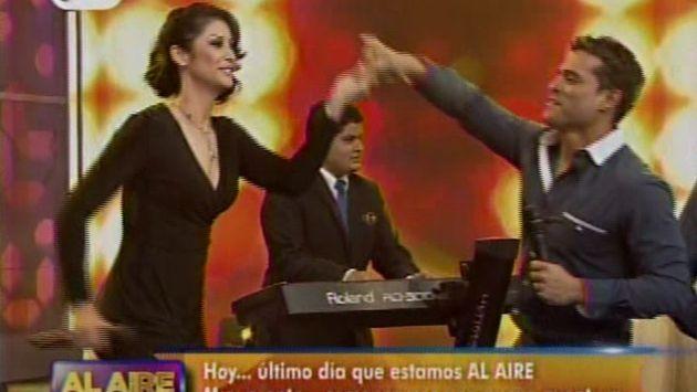 Así fue el baile de Christian Domínguez y Karla Tarazona. (Captura América Televisión)
