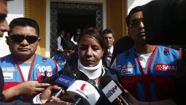 Milagros Rumiche aseguró que temía que Carlos Feijoo regresara y la atacara nuevamente. (Renzo Salazar)
