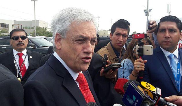 Sebastián Piñera llegó al CADE 2016. (Carlos Castillo/Perú21)