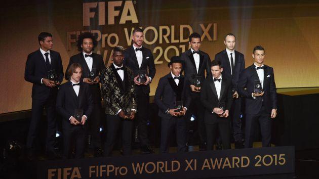 Este fue el 'Mejor 11 del mundo 2015'. (FIFA)