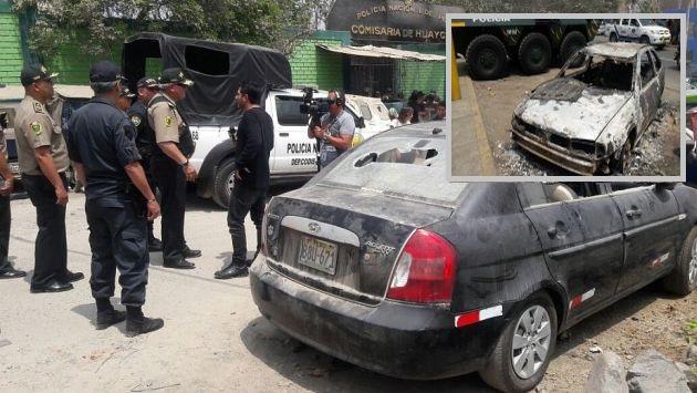 Una turba enardecida causó múltiples daños en las inmediaciones de la Comisaría de Huaycán. (Óscar Flores/Perú21)