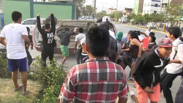 Huaycán: Los 34 detenidos fueron trasladados al penal de Lurigancho. (USI)