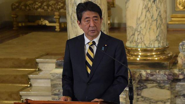 Señaló Abe en conferencia. (AFP)