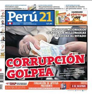 Corrupción golpea