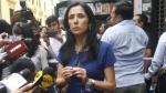 Nadine Heredia va el miércoles al Congreso. (Anthony Niño de Guzmán)
