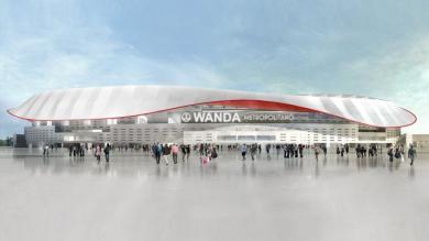 Atlético de Madrid dio el nombre de su nuevo estadio y modificó su escudo