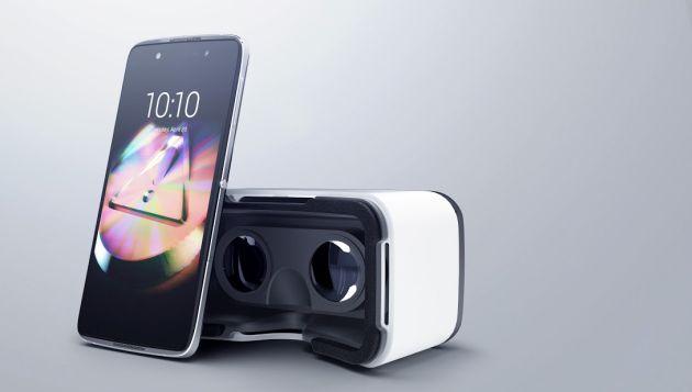 Viene con un visor de VR, que es parte del empaque, y con sujetadores de seguridad para usarlo sin problemas. (Alcatel)