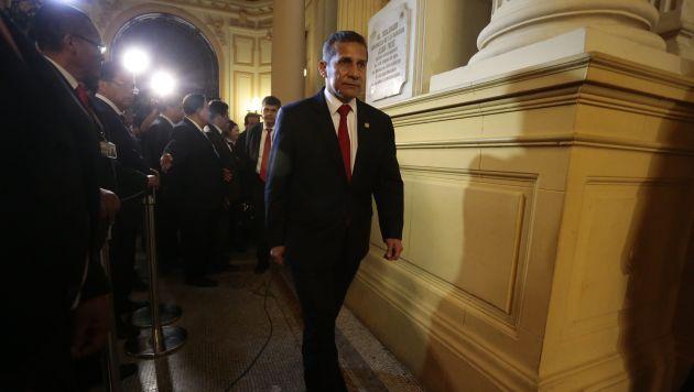 En la mira. Ollanta Humala, que compareció ante el Congreso, podría pasar a calidad de investigado. (Atoq RAmón)