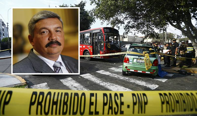 Alberto Beingolea resultó herido en accidente de tránsito en Surco. (Luis Centurión/Perú21)