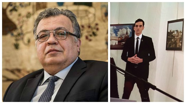 Andréi Karlov y su asesino. (Sputnik International / News_Executive)