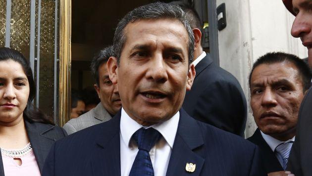 Ollanta Humala pagó caución de S/50 mil por supuesto lavado de activos. (Piko Tamashiro)