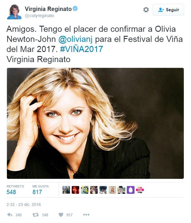 Confirman primer artista anglo para el Festival de Viña