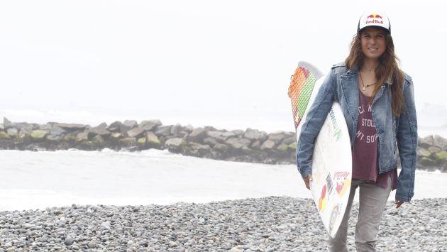 Sofía Mulanovich no podía mantenerse alejada del deporte que ama: el surf. (USI)