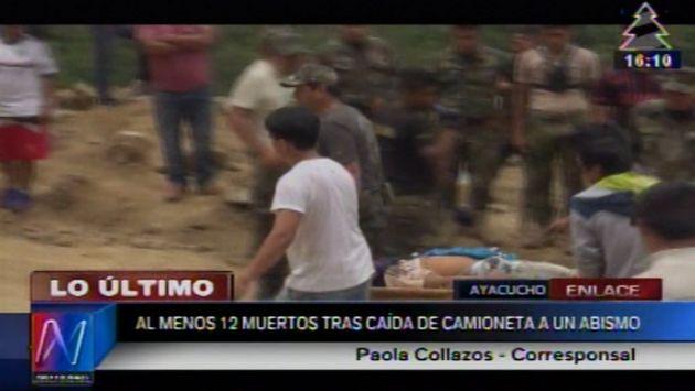 Accidente dejó 12 muertos. (Canal N)