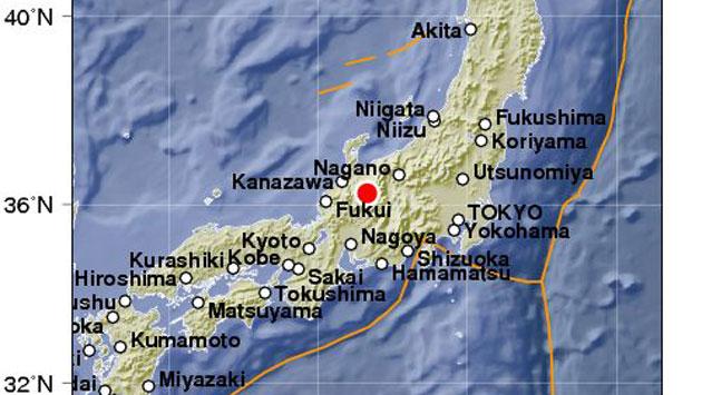 Un sismo de magnitud 6.3 sacude el noroeste de Tokio, Japón. (@Siempre889)