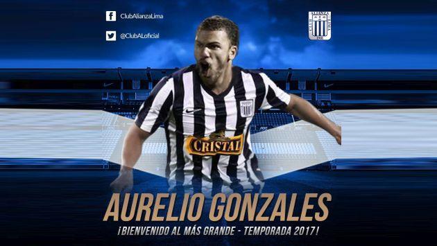 Alianza Lima presentó a Aurelio Gonzales-Vigil como refuerzo para el 2017. (Facebook Alianza Lima)