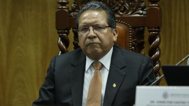 Comprometio. Sánchez aseguró que no permitirá presiones. (Anthony Niño de Guzmán/Perú21)