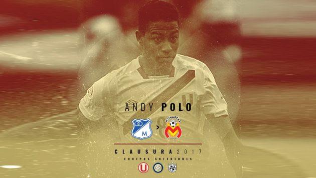 Andy Polo dejó Universitario de Deportes y fichó por Monarcas Morelia. (Monarcas Morelia)