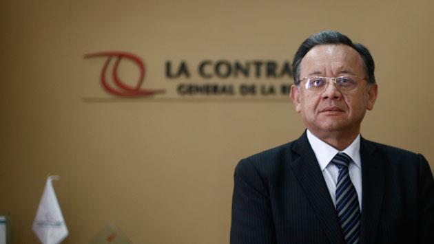 Edgar Alarcón, titular de la Contraloría General de la República. (Renzo Salazar)