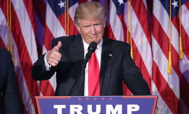 Donald Trump ofrece conferencia de prensa luego de seis meses (AFP).