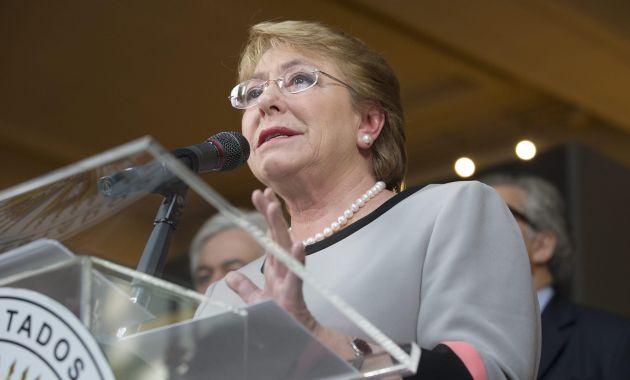 Michelle Bachelet aseveró que su gobierno se compromete a avanzar con el trabajo realizado. (Difusión)
