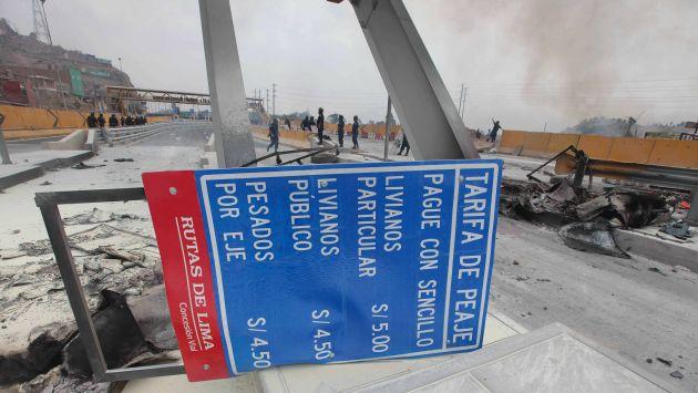 Advierten que marcha en rechazo al cobro de peaje en Puente Piedra no tiene garantías. (EFE)