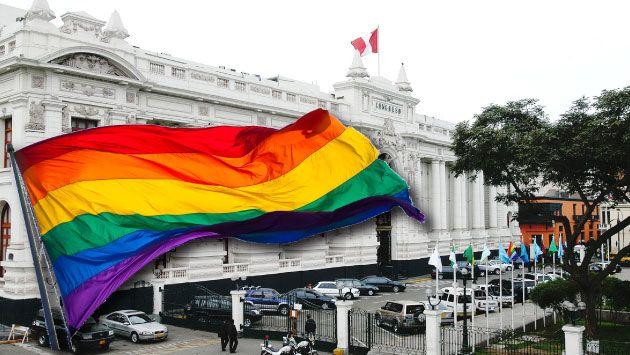 Comunidad LGBT realizará plantón este jueves frente al Congreso. (Composición)